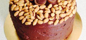 Sós mogyorós, sós karamelles csokitorta